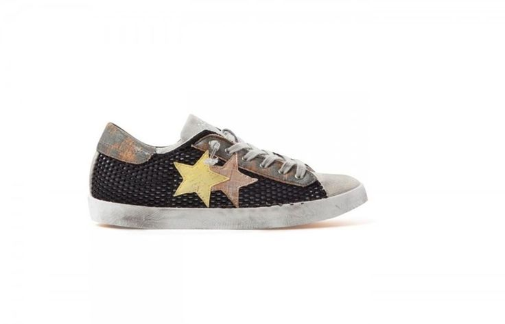 Sneaker 2 star 2SD1019 scarpa in rete nero ghiaccio spring summer 41 41 41