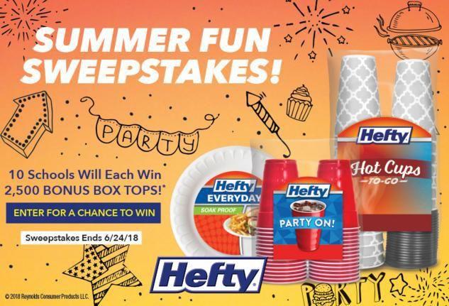 General Mills Hefty Summer Fun Sweepstakes – Win 2,500 Bonus Box
