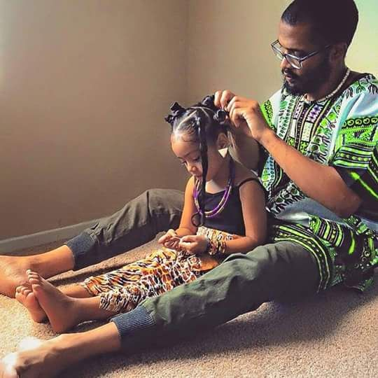 Precious Moments: Recognizing Daddy-Daughter Time - http://community.blackhairinformation.com/hairstyle-gallery/kids-hairstyles/precious-moments-recognizing-daddy-daughter-time/