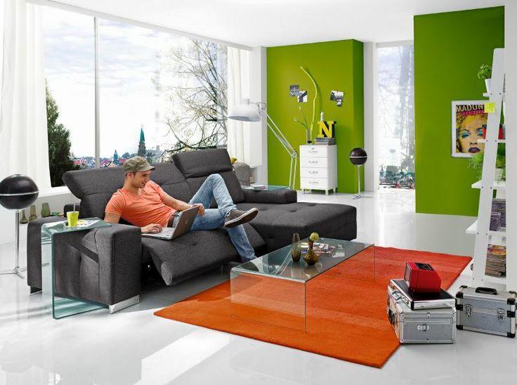 moderne wohnlandschaft caralie mit funktion sofa couch. Black Bedroom Furniture Sets. Home Design Ideas