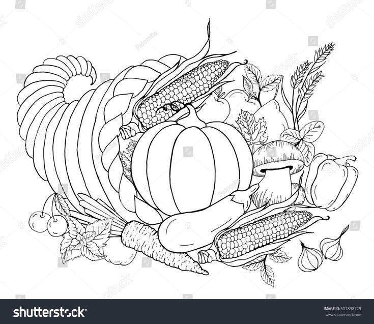 Image vectorielle de stock de La Cornucopie De ...