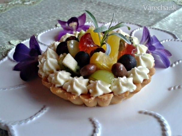 Tartaletky s parížskou čokoládou a ovocím (fotorecept)