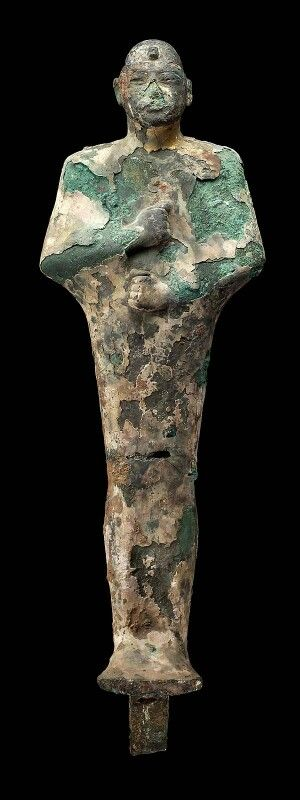 Bronze figure of Ptah. Late Period–Hellenistic Period (Ptolemaic dynasty). 760–30 B.C. | Museum of Fine Arts, Boston