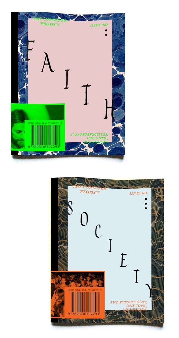The Consider Project Zine (Pitch) by Melvin Tan, via Behance