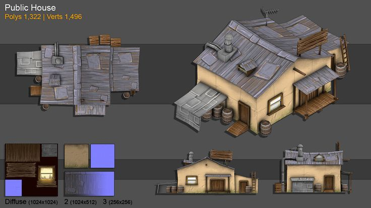 3D model: Public House by ~36Beans on deviantART