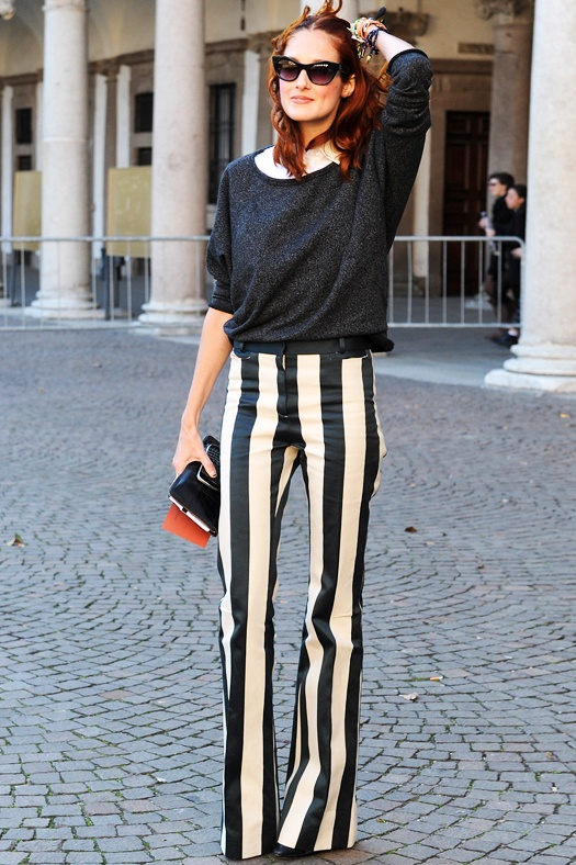 Stripes well done. Taylor Tomasi Hill, Style and Accessories Director for US Marie Claire magazine