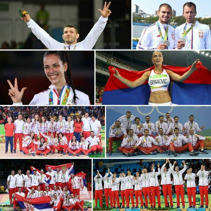 Nasi #heroji #heroes #respect #serbia #rio2016 #olympics #basketball #volleyball #volleyballgirls #waterpolo #srbija #wrestling #canoe #taekwondo #athletics #longjump #ivanaspanovic #davorstefanek #tijanabogdanovic #markotomicevic #milenkozoric #serbiabasketball #serbiawaterpolo #serbiavolleyball