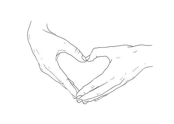 Le coeur sur la main dessin num rique a5 ou 5x7 hands - Main dessin crayon ...