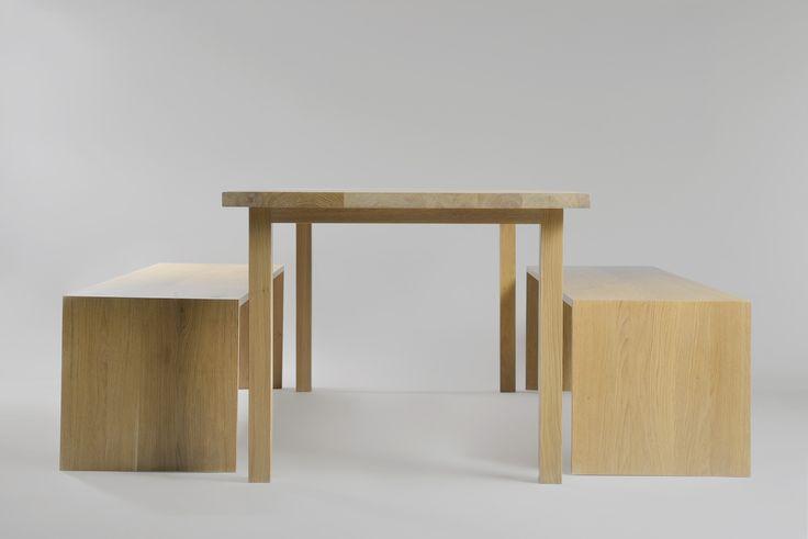 Oliver bench, Shogun table. Moromou
