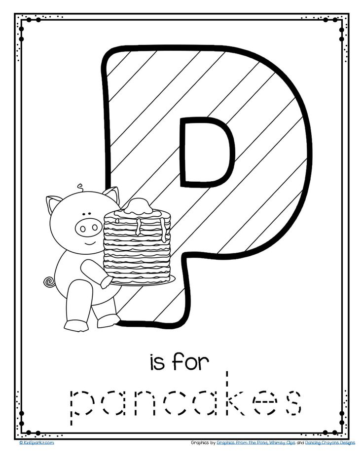 Pancake Day 2019 March 5th FREE Letter P Trace and Color