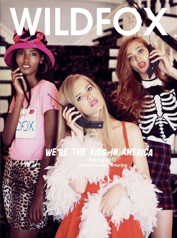 The Kid's In America, SS 13 Wildfox - Starring Olivia Greenfield, Fatima Siad, Tanya Katysheva photographed by Mark Hunter