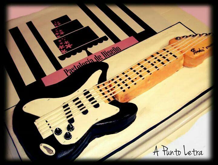 Torta guitarra eléctrica