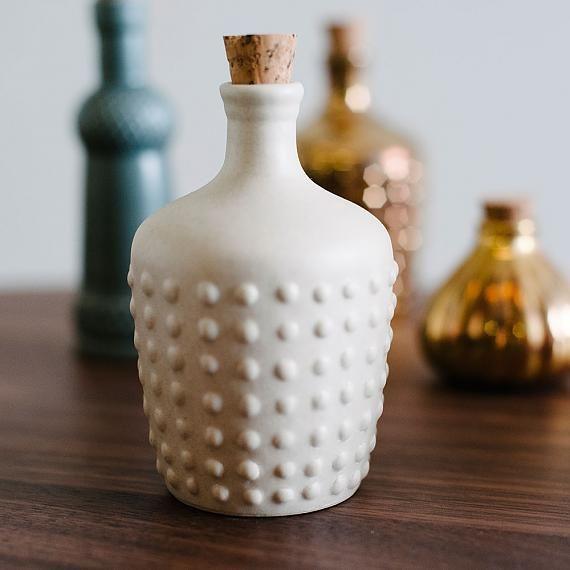 Polka Ceramic Bottle - Cream Matte  AUD $32