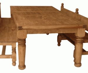 15 Wonderful Rustic Dining Set With Bench Image Ideas