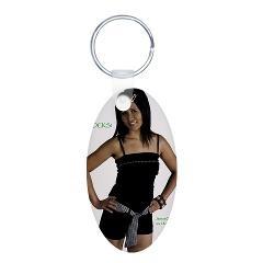 VeganRock Aluminum Oval Keychain > anytimegifts