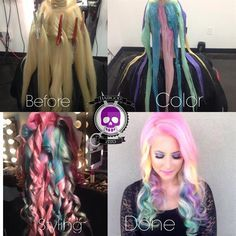 HOW TO: Pastel Rainbow - Hair Color - Modern Salon