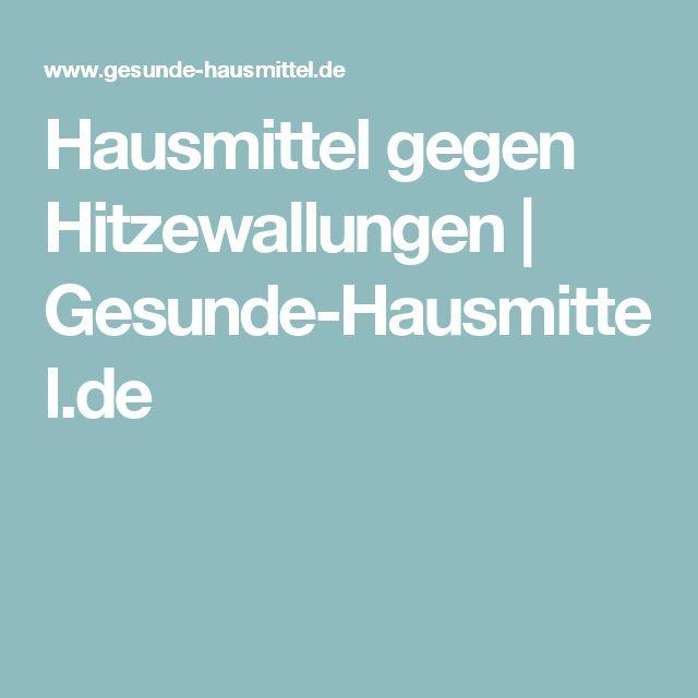 Hausmittel gegen Hitzewallungen   Gesunde-Hausmittel.de