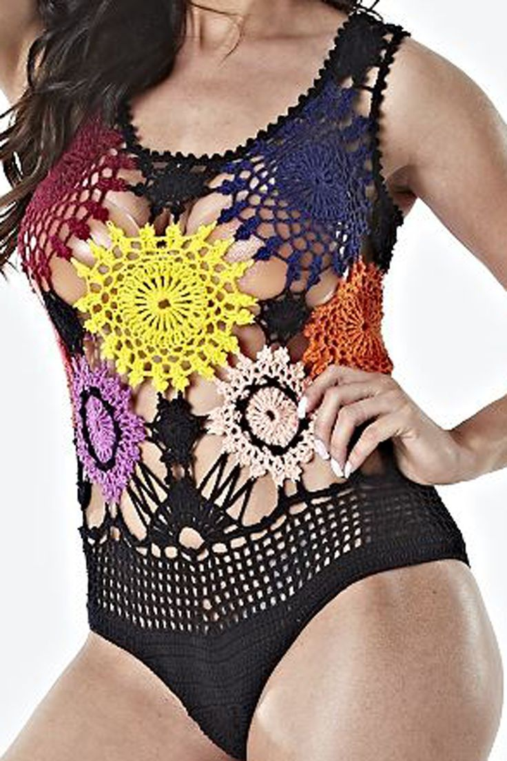 Body Flores ( Feito com Motivos em Crochê ) Com Gráfico e Receita da Círculo