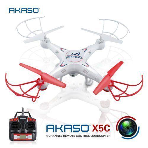 AKASO X5C 2.4Ghz 6-Axis Gyro RC Quadcopter Drone UAV RTF UFO with HD Camera - http://www.midronepro.com/producto/akaso-x5c-2-4ghz-6-axis-gyro-rc-quadcopter-drone-uav-rtf-ufo-with-hd-camera/
