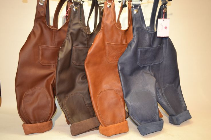 handmade leather overalls for kids by die-lederkiste.de