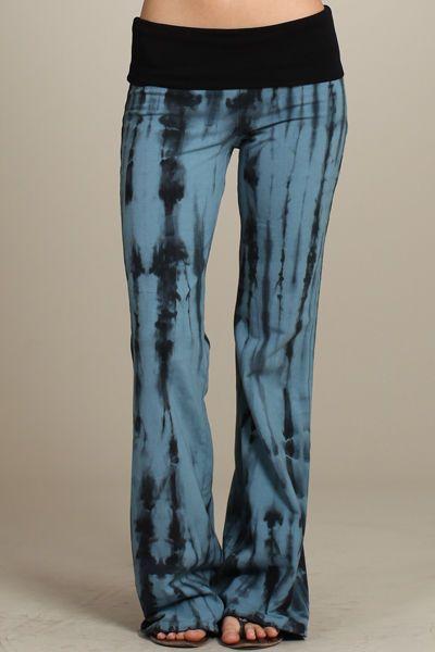 Beach Hut Lounge Bohemian Tie Dye Summer Casual Leggings Yoga Pants SIENNA TRIBE