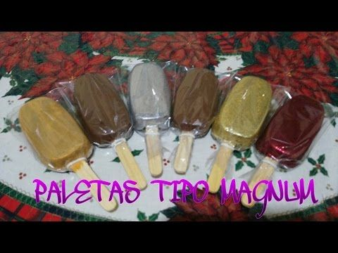 PALETAS DE CHOCOLATE TIPO MAGNUM (POPLACE) - YouTube