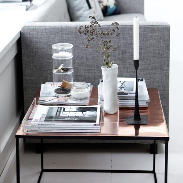 Sofabord med kobber fra House Doctor