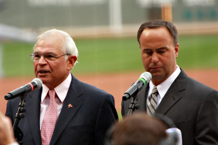 Joe Castiglione (L)  at the microphone...our beloved voice of the Red Sox on WEEI Boston. Joe is in his 27th season on Red Sox radio, the second longest tenure of any Boston broadcaster to 32 years for the late Ned Martin. (also our wonderful Don Orsillo on the R)