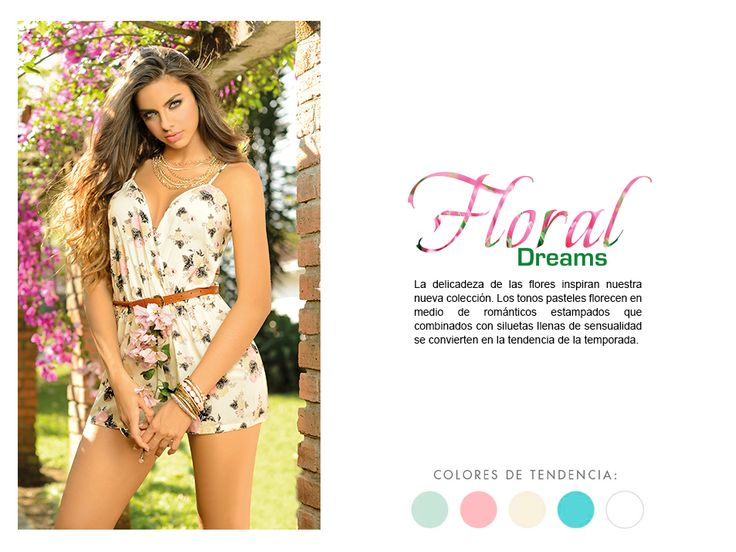 Inspiración #FloralDreams. #CarmelModa #Fashion