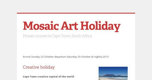 Mosaic and holiday in Cape Town October 2016