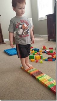 Learning activities with mega blocks