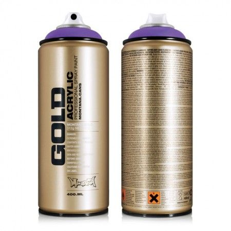 Montana Gold Acrylic Professional Spray Paint is the perfect tool for all artists and creative workers. Montana Gold easily offers the largest and most concise color range available in spray paint. And every color in the line is CFC-free.