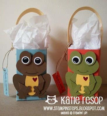 Stampin' Up!  Frog Punch Art  Katie Resop at Stampin' Steps: THANKS FOR HOPPING BY