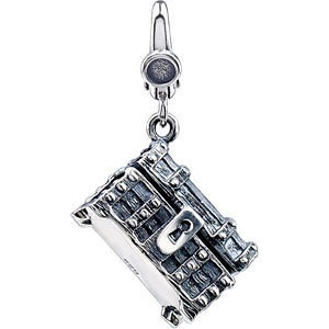 Sterling Silver Treasure Chest #Charm