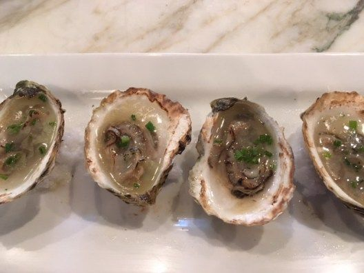 Torched oysters at Newport's Midtown Oyster Bar