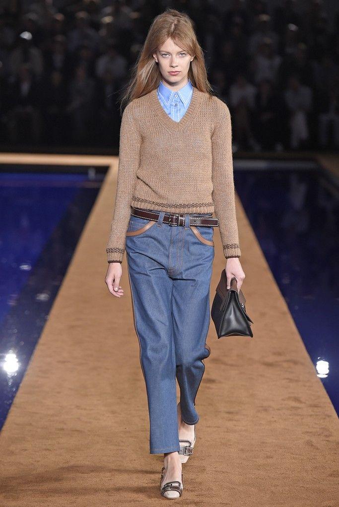 womenswear on the Prada Men's RTW Spring 2015 runway - love this look