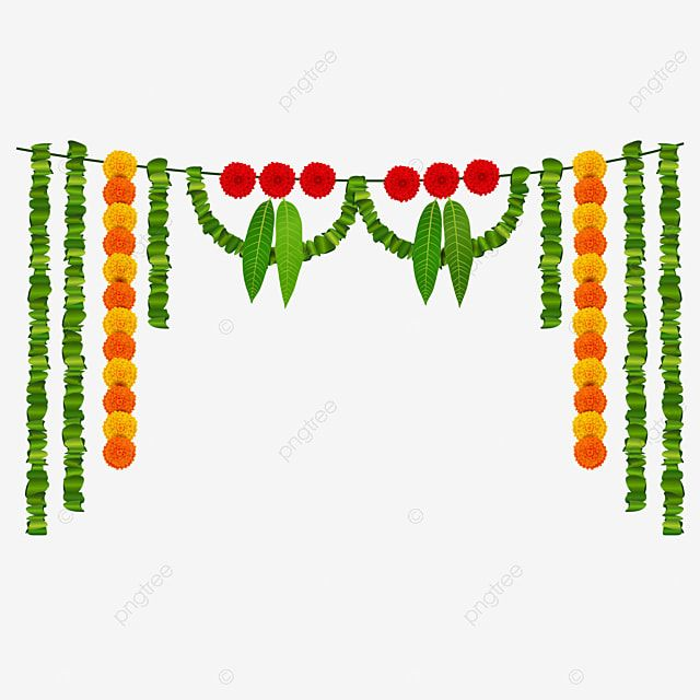 Mango Garland Marigold Garland Garland Wedding Garland Ugadi Garland Png And Vector With Transparent Background For Free Download Spring Flowers Background Psd Free Photoshop Flower Invitation