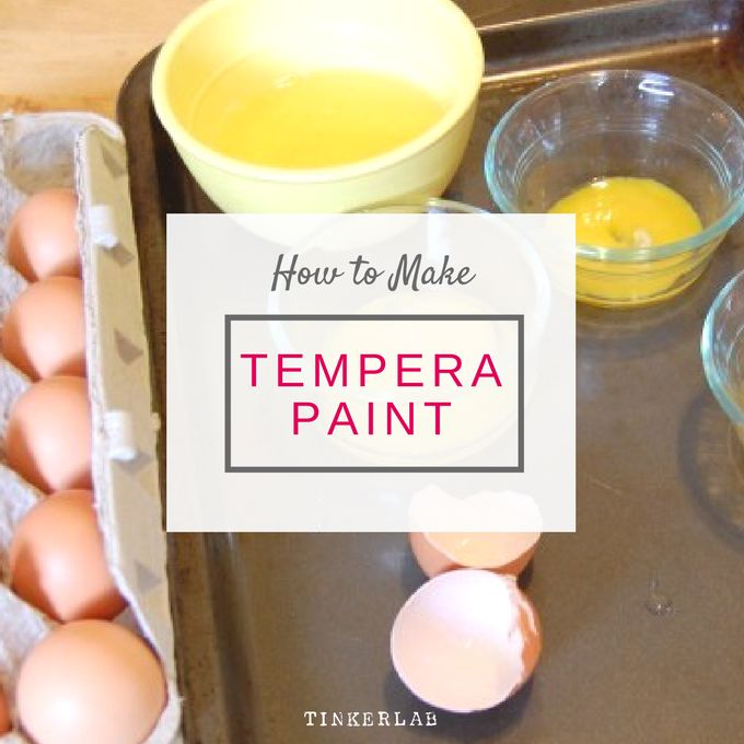 How to make tempera paint | So easy and non toxic.