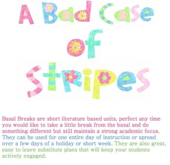 Bad Case of Stripes Basal Break by Denis Boeme would make perfect sub plans.