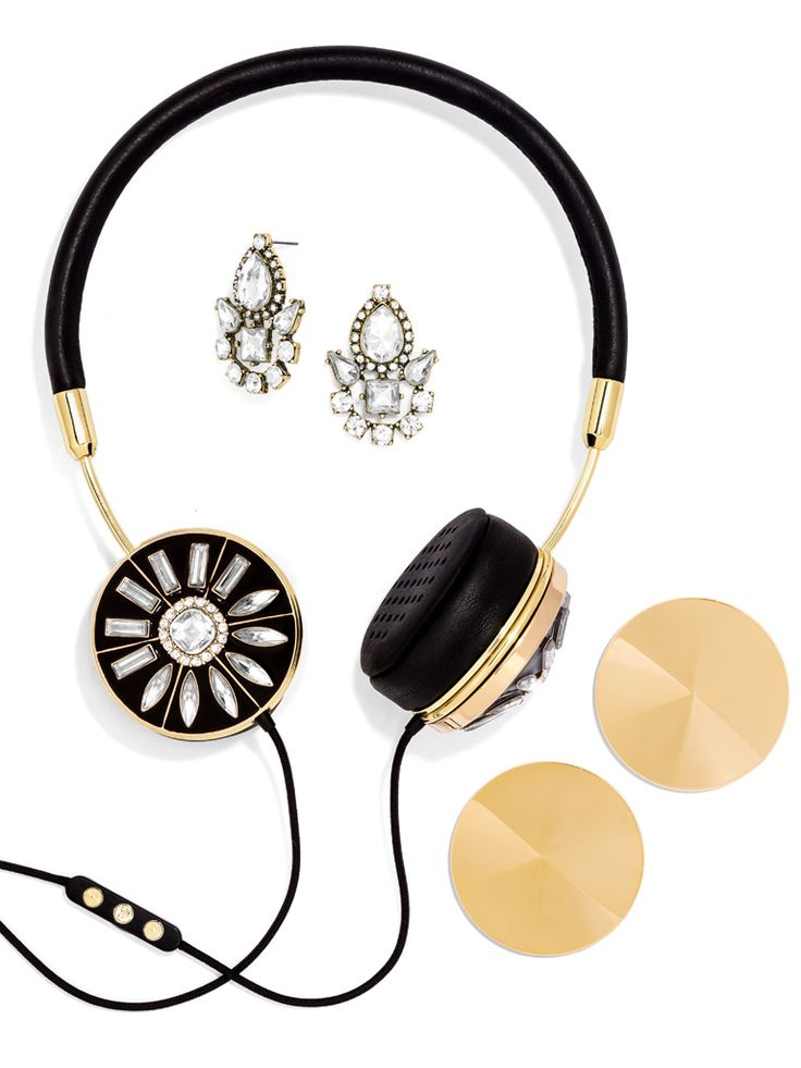 Gold FRENDS x BaubleBar Layla Headphones http://rstyle.me/~3e1i7