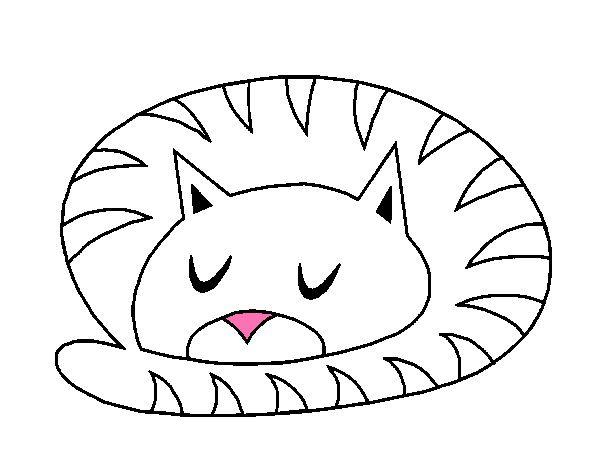 Dibujo gato durmiendo pintado por kajk imagenes - Dibujos de gatos pintados ...