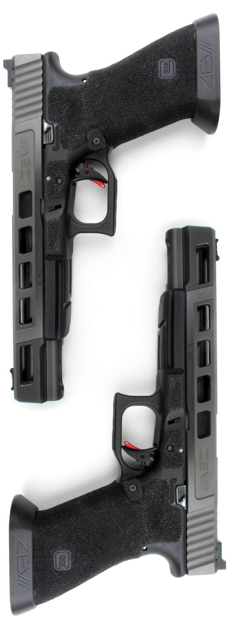 ZEV Modified Glock 17L in Gunmetal Gray
