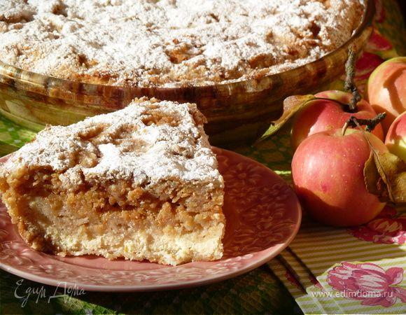 Болгарский пирог с творогом и яблоками. Ингредиенты: мука, сахар, манная крупа | Кулинарный сайт Юлии Высоцкой: рецепты с фото