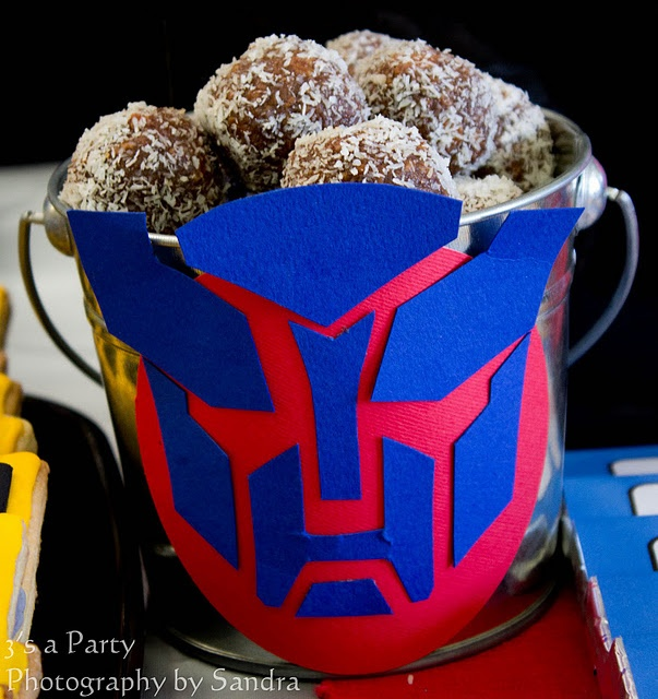 transformers party. {lots of food pictures}