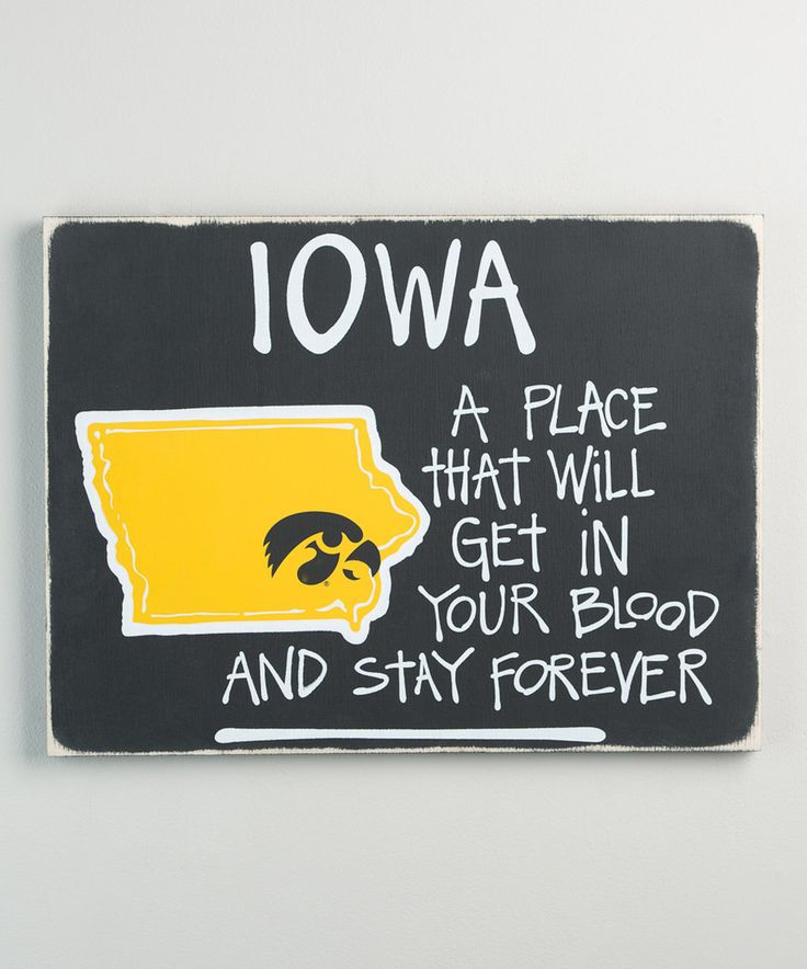 Look what I found on #zulily! Iowa Hawkeyes Map Wall Sign by Glory Haus #zulilyfinds