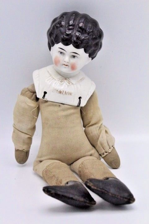 """Marion"""" Pet Name German Glazed Porcelain China Shoulder Head"""