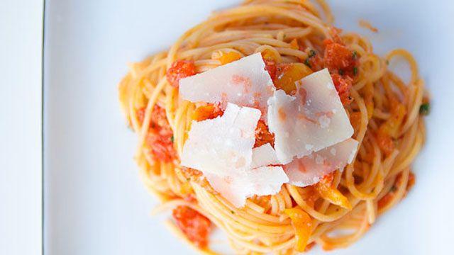 Crab Pasta Recipe and Tomato | Entree Recipes | PBS Food