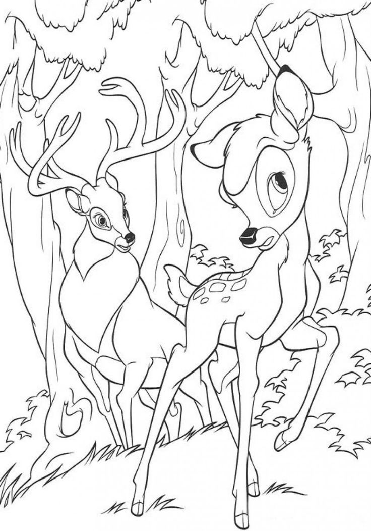 Disney Bambi Coloring Pages