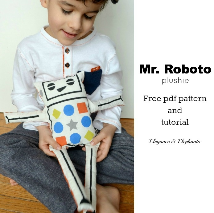 Elegance & Elephants: Mr Roboto Pattern and Tutorial