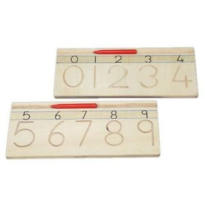 Montessori Wooden Numerals Numbers Tracing Board | eBay